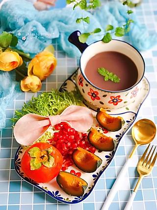 芽芽名叫黄小芽的火腿片蝴蝶结🎀,为早餐添加一份少女心💖