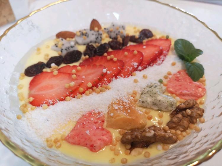 低脂健康下午茶之芒果酸奶杂果思慕雪图3