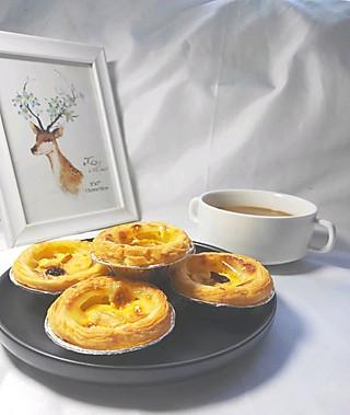 欧式风情下午茶 加了苹果的蛋挞