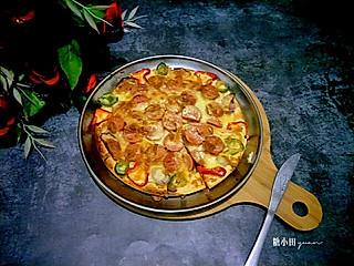糖小田yuan的早餐吃个【火腿披萨】吧😋:中式的更符合我们小宝贝的小胃口噢