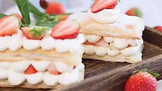 西瓜食光的🍓草莓拿破仑|花10分钟就能完成,零难度‼️