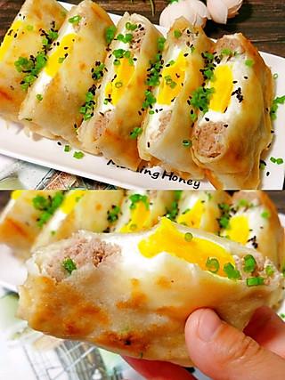 宝妈爱厨房美食分享的不揉面不擀面!好吃到舔手指的鸡蛋肉饼!