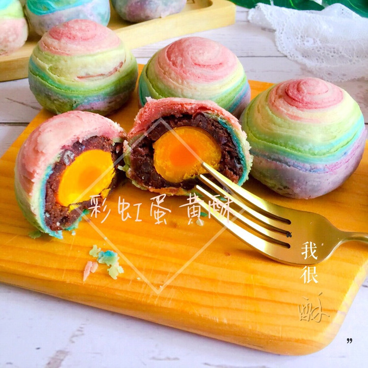 用爱划一道彩虹!颜值高的彩虹酥,螺旋酥,五彩酥,你吃过了吗?图2