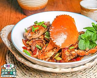极妙厨房的豪横,爆炒一下,麻辣鲜香,好吃到了连壳吞的香辣蟹