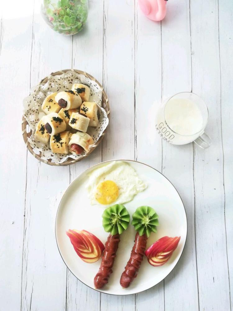 一口酥➕苹果奶昔➕黑椒肠,鸡蛋,猕猴桃图5