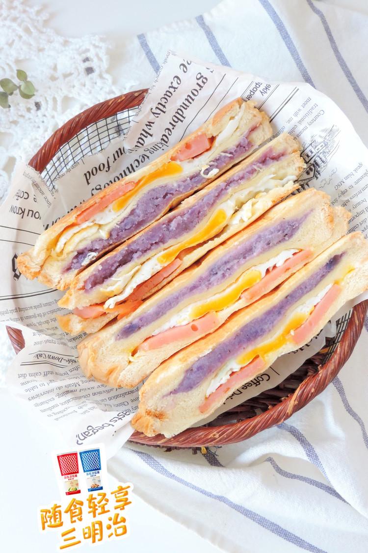 紫土豆泥蛋腿三明治图2