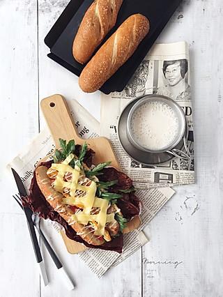 一一描的鸡胸肉法棍三明治
