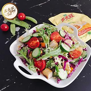 Byu_98的夏季轻食-鸡肉蔬菜沙拉🥗