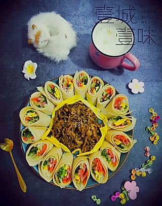 策马苍穹的豆腐皮包肉 营养更均衡