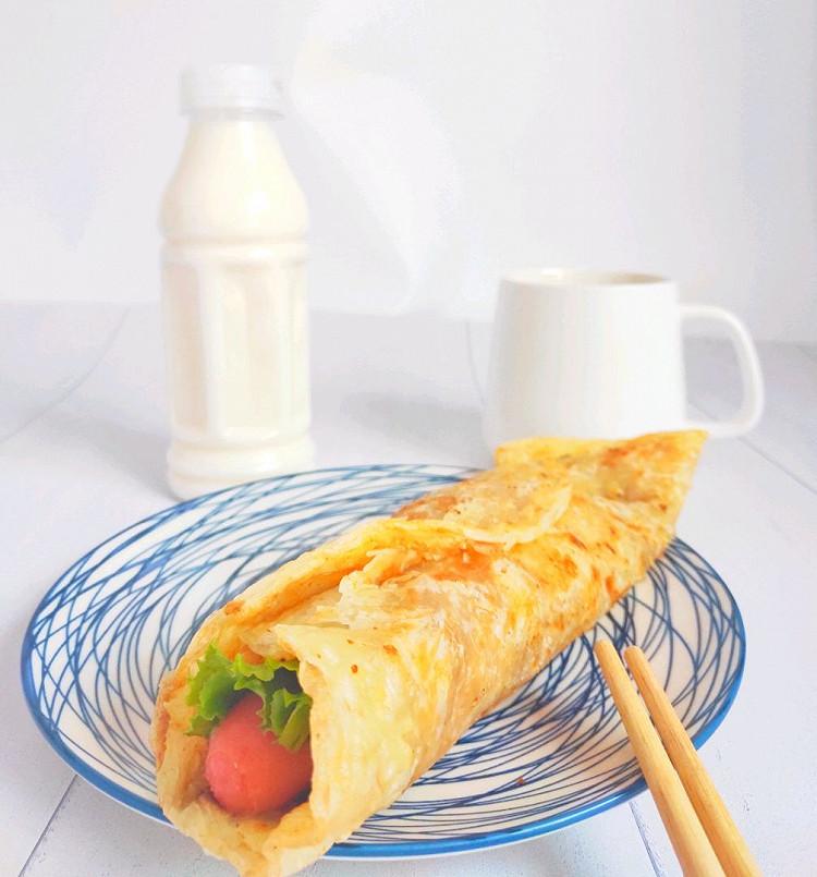 秒杀所有地摊货-早餐简易版的鸡蛋灌饼(手抓饼版)图7
