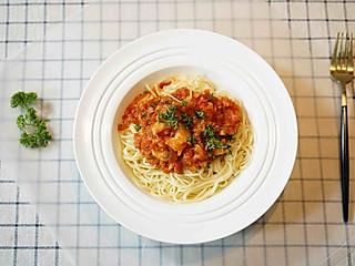 茱莉娅的视界的520爱心鲜虾番茄意大利面