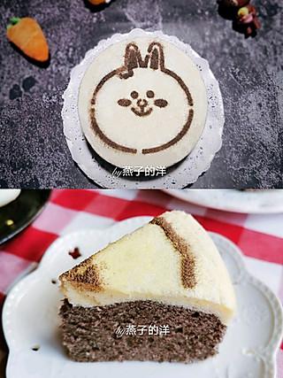 燕子的洋的蒸蛋糕系列㊙️黑米兔兔双色蒸蛋糕