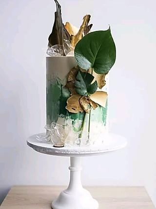 奎叔手作的green系列的美貌森系蛋糕合集