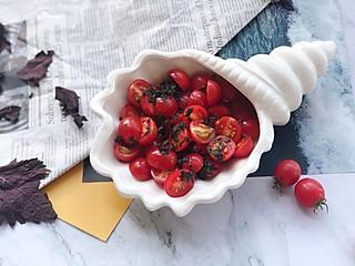 西西儿的居家美食的中餐厅3⃣️分钟快手凉菜💜紫苏蜂蜜樱桃番茄🍯🍅