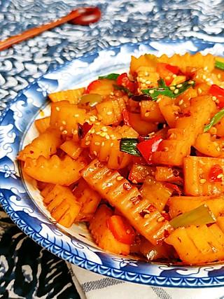 海临的家常版『狼牙土豆』不太辣的版本