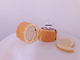 山药鸡肉泥and紫薯鸭肉泥仿奶油,蛋糕卷