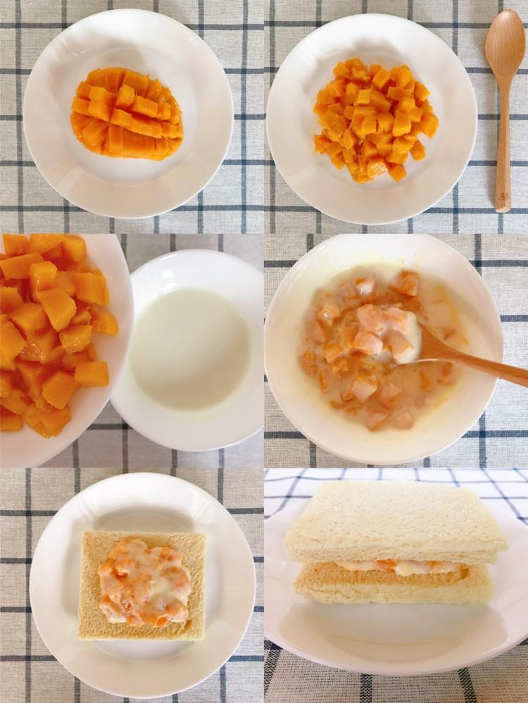 🔥5分钟快手早餐‼️巨好吃的🍞芒果酸奶吐司❗️非烤箱❗️图4