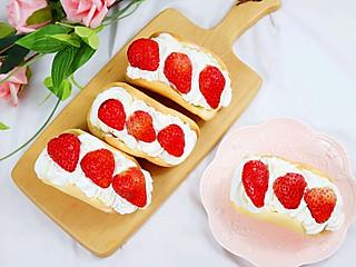 奶油泡芙520的生活小确幸之吃出幸福感的草莓抱抱卷