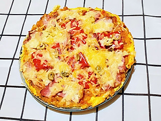 茹太太爱厨房的鸡蛋披萨,你吃过吗?