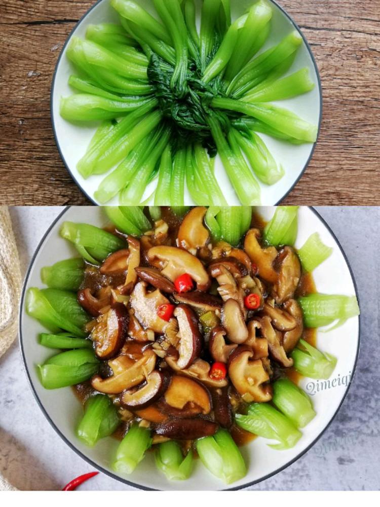 香菇炒油菜,简单易做,味道鲜美图6