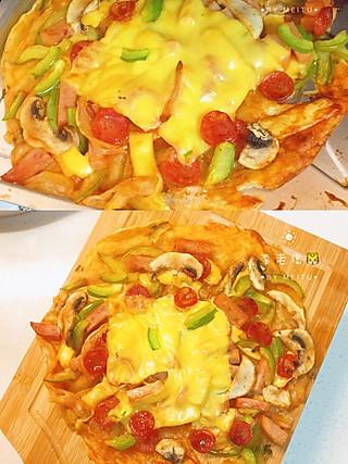 李tiger~的🍕超满足感的手抓饼芝士披萨🍕