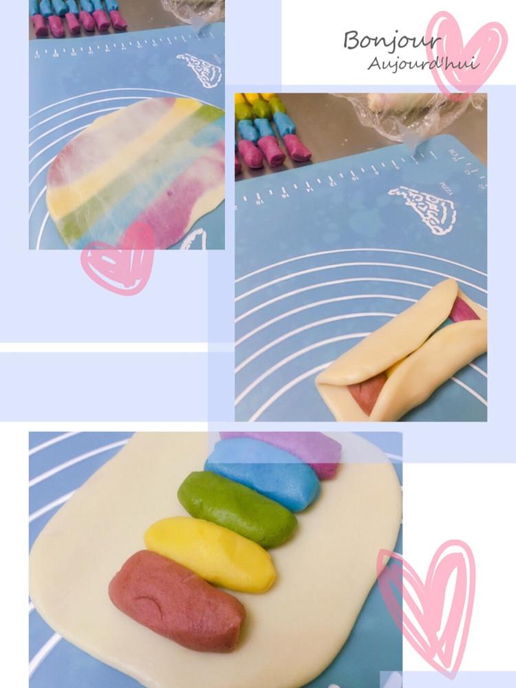 用爱划一道彩虹!颜值高的彩虹酥,螺旋酥,五彩酥,你吃过了吗?图9