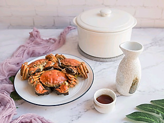 anne创意料理组的吃螃蟹要来一杯热热的黄酒才有仪式感呢