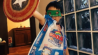 [育儿妙招]如何用废旧材料,做一套美国超人的装备