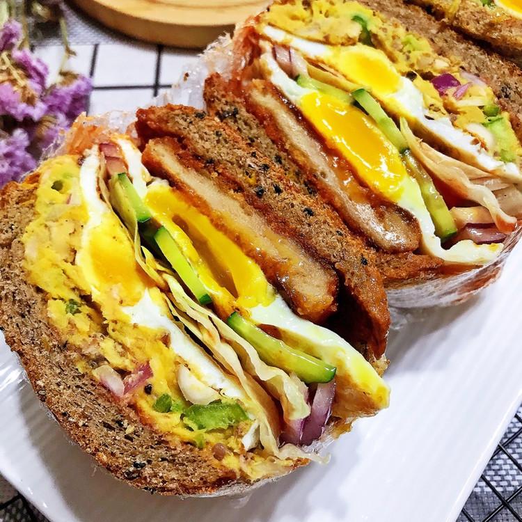三明治🥪➕酸奶银耳桃胶图5
