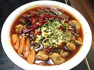 湖月姬的经典川菜毛血旺,第一次做,超好吃,哈哈。。。