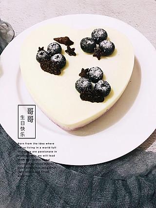华女any的奥利奥渐变蓝莓冻芝士蛋糕,妹妹一直期待吃