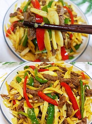 瑜欢欢的💝家常下饭菜~茭白炒牛肉🌴🌴🌴