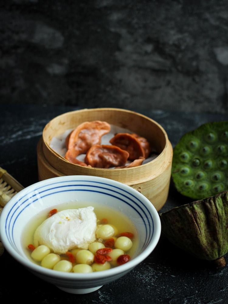 鲜莲荷包蛋&香椿饺子的周四,早安~图3