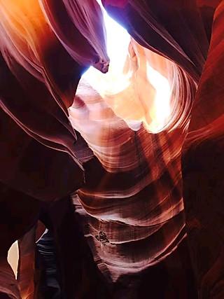 爱美食的拉拉的羚羊谷——谷中震撼的光影实在太多