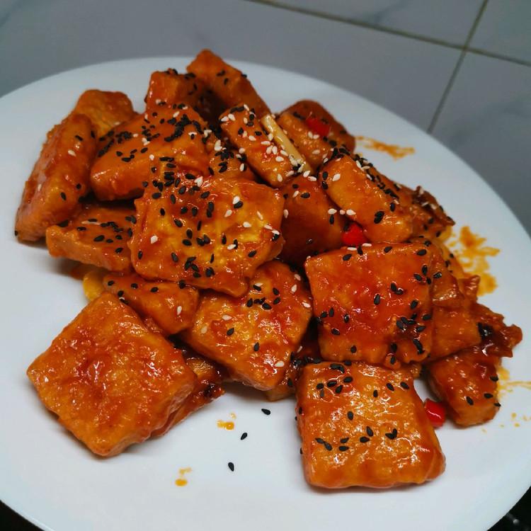 男孩子的厨房日记-糖醋脆皮豆腐图2