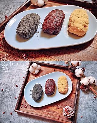 蓝胖纸叮当的秋天的味道|和菓子三色萩饼( 3色おはぎ )
