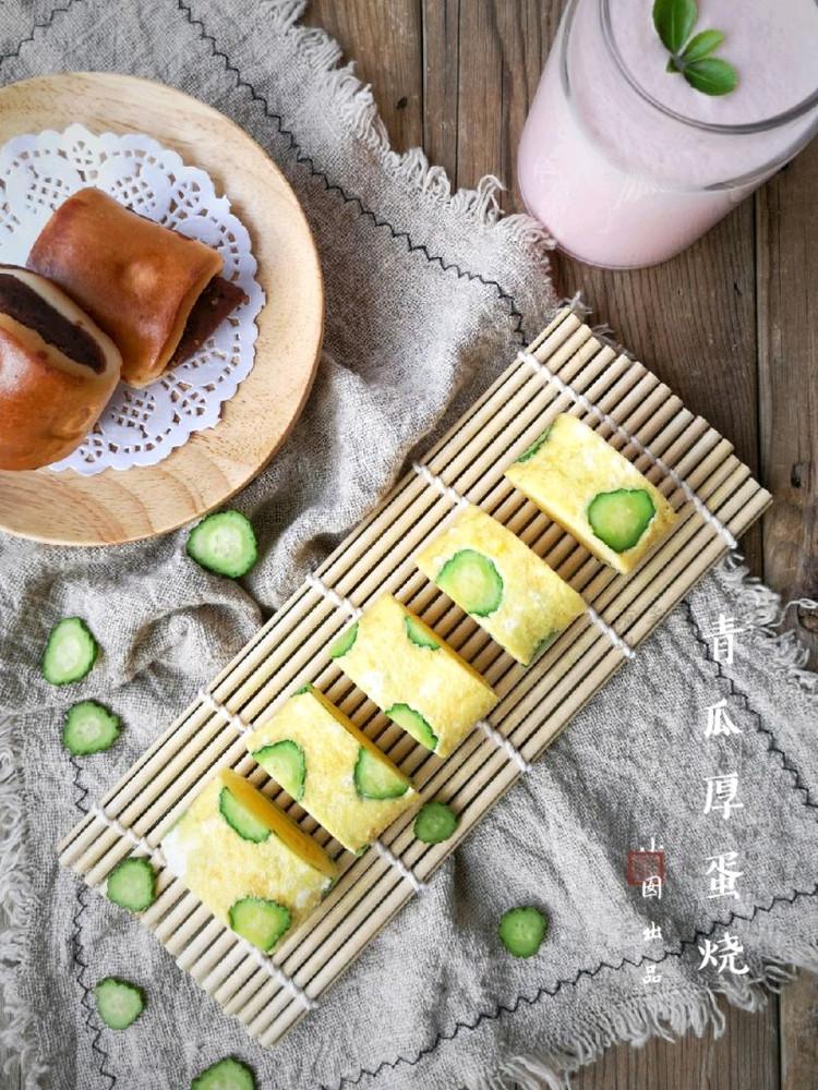 酷夏里的小清新——青瓜厚蛋烧图1