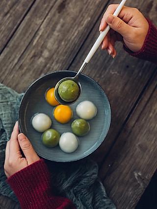 阿黄或flora的三色汤圆闹元宵