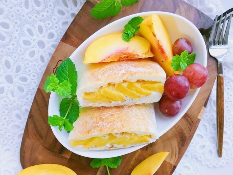 酸奶黄桃三明治🥪 吐司加水果好吃的不得了哦😁图3
