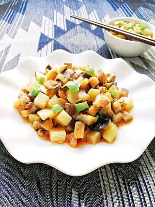 牛妈家的厨房的1菜2吃既能拌面又是米饭杀手的茄子烧土豆