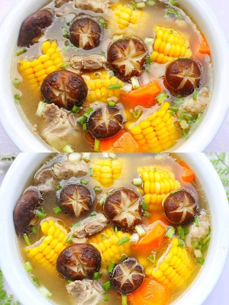连喝三碗都不够🔥香菇玉米胡萝卜排骨汤😋 营养健康又鲜美‼图7