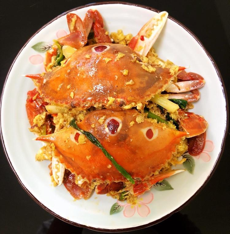 姜葱炒三眼蟹图2