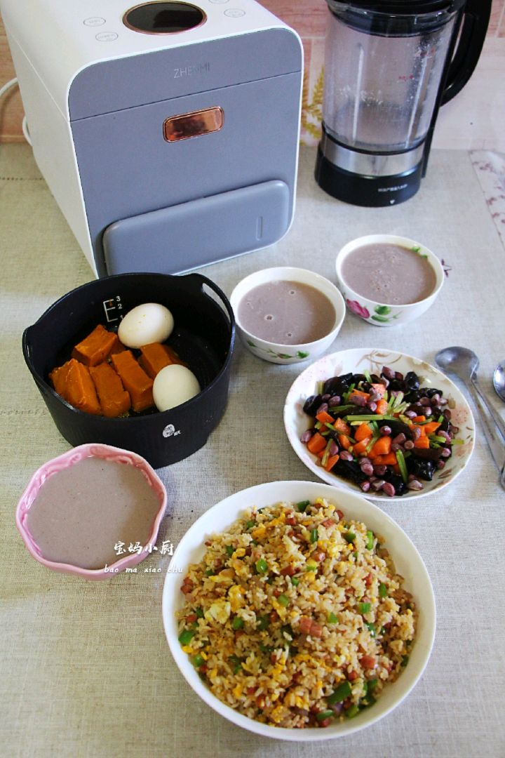 【宝妈小厨早餐日记】营养蒸+配炒饭米糊++拌菜图4