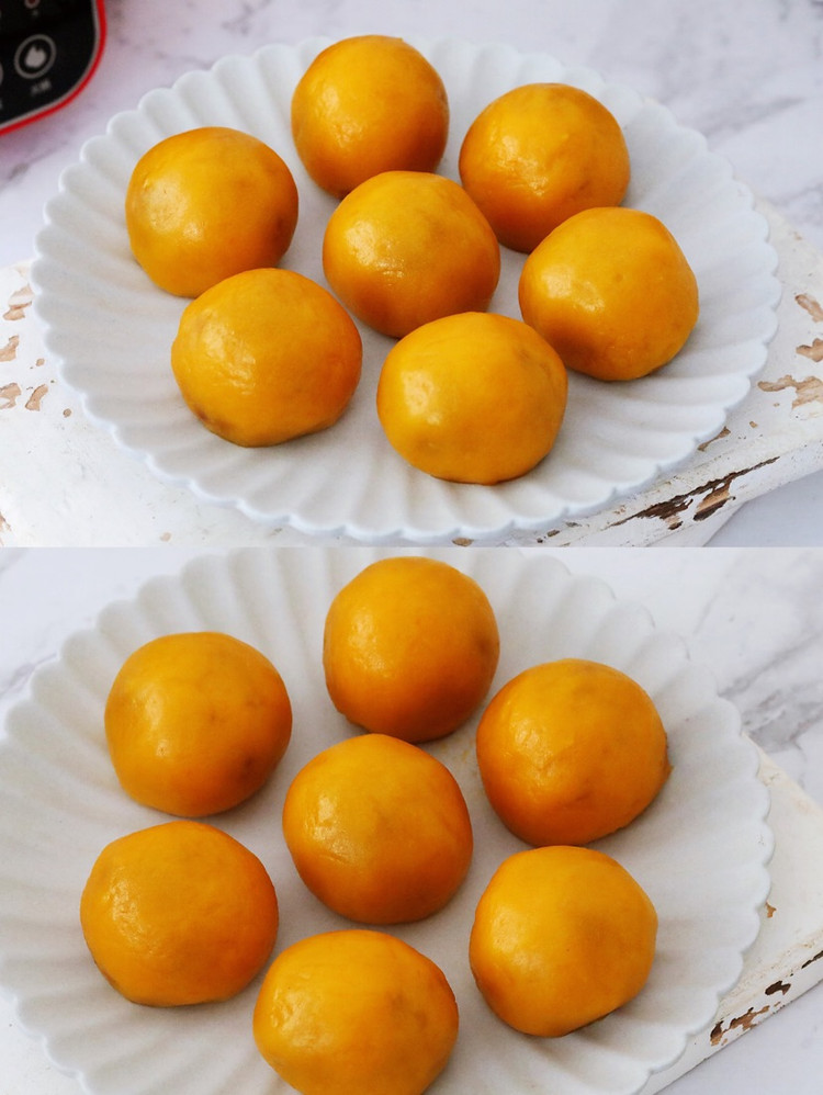 无需烤箱❗️好吃到爆的南瓜紫薯糯米球㊙️简单零失败图3