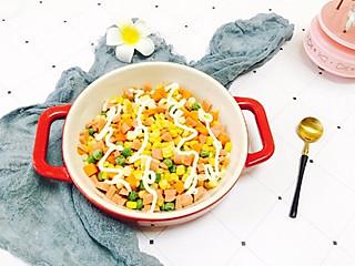 鈅鈅宝妈咪的素中自有颜如玉,减脂的玉米沙拉!