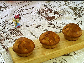 食a色的#亲子烘焙组~中国家庭烘焙料理大赛#蜂蜜肉桂苹果马芬