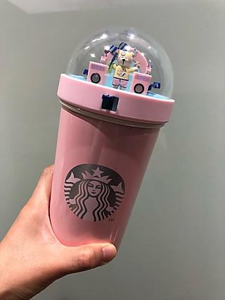 燕子的洋的星爸爸粉色珐琅小熊杯
