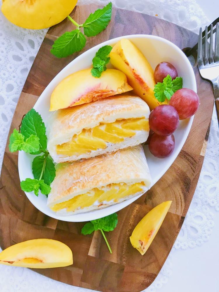 酸奶黄桃三明治🥪 吐司加水果好吃的不得了哦😁图2