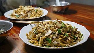 【临海炒麻糍】一种用刀炒出来的小吃,真特别!