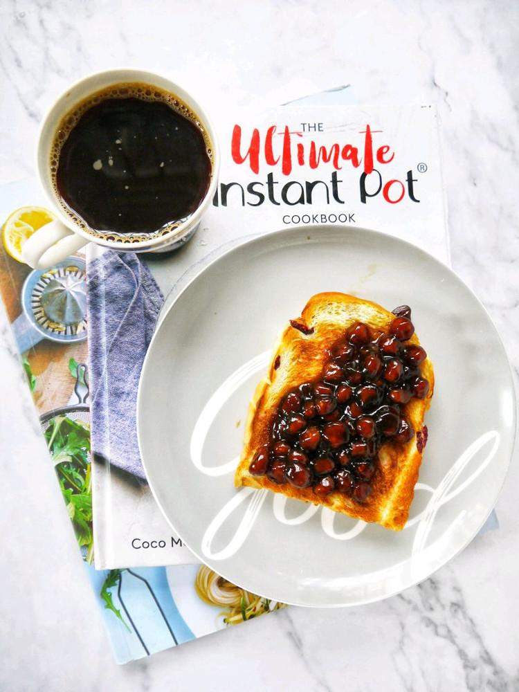 早安~~黑咖啡+黑糖珍珠吐司片~~图1
